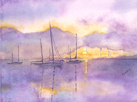 Purple Sails Sunset Elizabeth Kapa